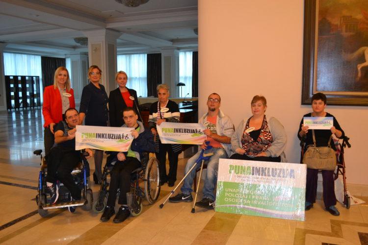 """Zahvaljujemo Ministarstvo porodice, omladine i sporta Vlede RS na velikoj podršci udruženju """"Puna inkluzija"""""""